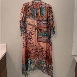 Johnny Was Chavelly Dress With Slip Sz Sm